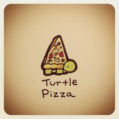 Turtle Pizza Print