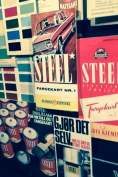 Moodboard from car paint from Jotun Sandeford norway ! 60's fun day at work !