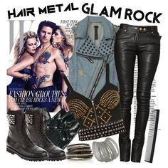 """Hair Metal & Glam Rock"" by sweet-jolly-ranchers on Polyvore"