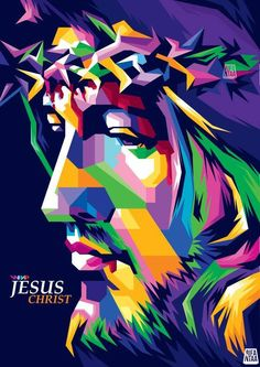 Jesus Christ Pop Art Painting Contemporary Christian Artwork Designs Multi Color Wall Art for Modern Decor Ready to Hang(One Panel Tableau Pop Art, Christian Posters, Christian Artwork, Jesus Painting, Pop Art Portraits, Scripture Wall Art, Jesus Art, Jesus Pictures, Sky Art