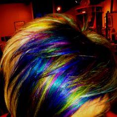 Peacock effect with Pravana Vivid Pigment!