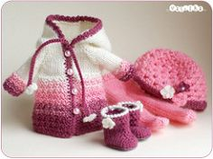 purple-pink set (_vasilka_) Tags: doll handmade crochet knit clothes jaime latiyellow pukifee