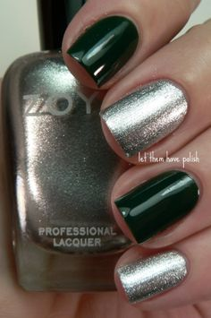 Slytherin Inspired Nails <3