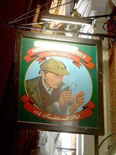 The Sherlock Holmes - Pub Sign Northumberland Street, London