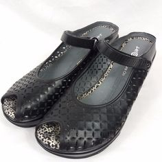 Jambu J 41 Jolie Mary Janes Shoes Size 11 Black Peep Toe Slides  Jambu   776cd7073093