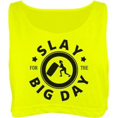 Slay At the Gym Wedding Day | Are you engaged? This bride to be is motivated to hit the gym and get her workout on! Slay for the big day in this cute neon crop top shirt! Lift weights, do that cardio and get in shape for your wedding day.