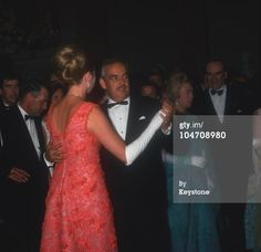 Princess Grace Kelly dancing with Prince Rainier of Monaco at Le Bal de Petits Lits Blancs held at Powerscourt in Enniskerry, County Wicklow, Ireland in July 1965. (Photo by Keystone/Getty Images)