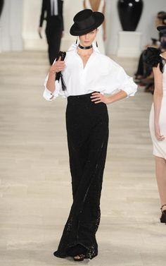 Karlie Kloss in Ralph Lauren SS13 show