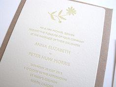 Florabelle letterpress wedding invitation