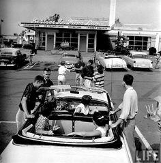 Teen hangout, 1955