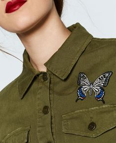 Image 6 of CROPPED MILITARY JACKET from Zara