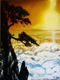 """This is a piece of one of a kind original fine art Acrylic painting of Natural Landscape painted by artist Liu . on canvas , Realistc Paintings or Life Like Paintings.SIZE: 46cm x 60cm / 24"""" x 18"""",Signed on the front; Dated on the back., It was done in 2014. It's on sail for $459. For more details visit our website http:// www.start1stgo.com ."""