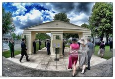 (EDITORS NOTE: This image was processed using digital filters) A general view of the Royal Enclosure entrance during day two of Royal Ascot at Ascot Racecourse on June 18, 2014 in Ascot, England.  (Photo by Alan Crowhurst/Getty Images for Ascot Racecourse)