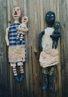 Primitive Black  Doll Pattern Raggedy Ann Style EPattern Stitchery PDF Handpainted Fabric Folkart Folk Art Hickety Pickety 103