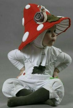 Little mushroom. I think I want one. Little mushroom costume.  Toadstool