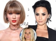 Demi Lovato not feeling Taylor Swift Kesah Love & Kim Kardashian unveils her Saint West - https://movietvtechgeeks.com/demi-lovato-not-feeling-taylor-swift-kesah-love/-Countless stars showed their support to fellow musician Kesha after the court ruled that she would not be able to get out of her contract with Sony and music producer Dr. Luke.