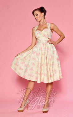 Retro Glam - Heartbreaker Haute Marsailles Dress in Pink Katherine Floral