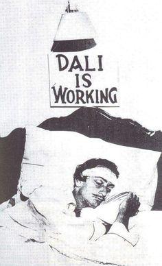 Live your dreams / Salvador Dali painted his dreams and his surrealist ideas facilitated 'living the DREAM ' ⭐️ Magritte, L'art Salvador Dali, Salvador Dali Quotes, Salvador Dali Paintings, Hans Arp, Alberto Giacometti, Max Ernst, Art Moderne, Grafik Design