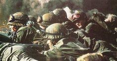 Argentine positions. Falklands War.