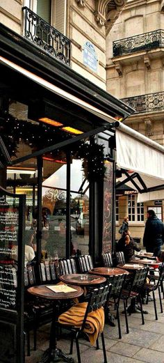 I do Love Paris and Coffee and Pastries.I wonder if they Serve Champagne.Cafe in Paris, France Oh Paris, I Love Paris, French Cafes In Paris, Paris Winter, Oh The Places You'll Go, Places To Travel, Time Travel, Belle France, Ile Saint Louis