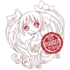 Aleisha Unmounted Red Rubber Stamp