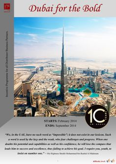 "10th FM GROUP WORLD Anniversary Special Incentive Programme ""Dubai for the Bold"" has just been announced which gives everyone in FM (and those who join now) the same chance to qualify for this trip (full terms and conditions on how you qualify available to everyone in FM).  There really has never been a better time to find out how you could be earning money with FM Group by visiting:  http://www.fm-opportunity.com/"
