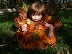 """""""Autumn Elf""""  """"Pile of leaves"""" infant costume - CRAFTSTER CRAFT CHALLENGES"""