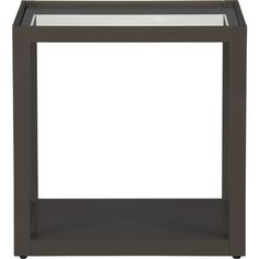 Mimic Smoke Cube in Side, Coffee Tables | Crate and Barrel