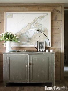 Nod to your hometown — or a favorite summer vacation spot — with a personalized chart, like this New York home's Shelter Island print. Click through for more summer decorating ideas.