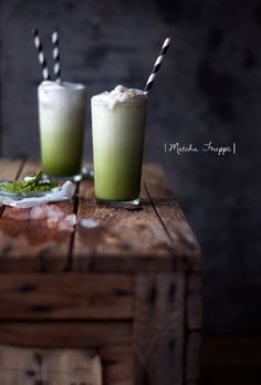 Matcha Frappe - Bet you could add a scoop of Be Well Sustain or Be Well Whey Protein powder to this #smoothies