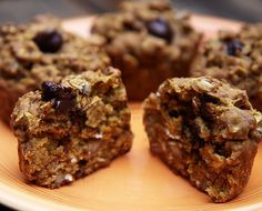 Oatmeal Dark-Chocolate Chip Muffins: As a breakfast on the go, these oatmeal dark-chocolate chip muffins do not disappoint — they'll leave you satisfied and full of fiber!
