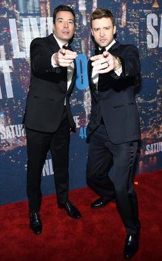 """@eonline: Jimmy Fallon and Justin Timberlake = Squad Goals. #SNL40 """