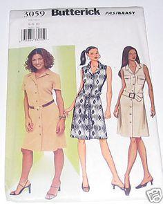 OOP Butterick Womens Sewing Pattern 3059 by AmberLiteTreasures