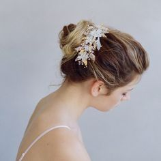 Sugary Sweet Floral Headpiece Hairpins & Combs Twigs & Honey  - Happily Ever Borrowed