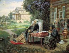 The Athenaeum - Thoughts of the Past (Vasily Maximov) Russian Painting, Russian Art, Russian Culture, Russian Style, Gouache, Oil On Canvas, Canvas Art, Knit Art, Museum
