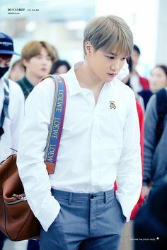 Kai [HQ] 181119 Incheon Airport, departing for Kaohsiung Baekhyun Chanyeol, Exo Kai, For You Exo, Luhan And Kris, Kim Jongin, Kpop Exo, Kaisoo, Exo Members, Lady And Gentlemen