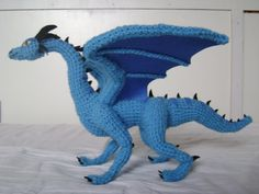 Crochet Dragon Luind 2 by xXShilowXx.deviantart.com on @deviantART
