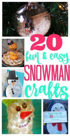 Snowman Crafts for Kids:   Cute crafts perfect for kids!