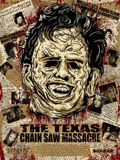 The Texas Chainsaw Massacre poster by Christopher Ott (London Horror Icons, Horror Movie Posters, Movie Poster Art, Horror Movies, Film Posters, Horror Villains, Comedy Movies, Texas Chainsaw Massacre, Pop Art