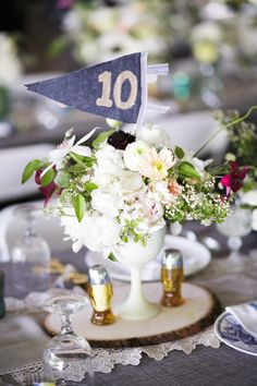 Camping themed wedding | Flowers by Fleur Inc | Read more - http://www.100layercake.com/blog/?p=77418