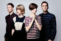 The Jezabels, led by frontwoman Hayley Mary (in stripes)