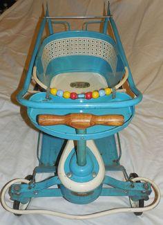 #strollerwalker #vintage #taylor #baby #tot #sVintage Taylor Tot Baby Stroller/Walker, 1950's Vintage Baby Toys, Retro Baby, Vintage Nursery, Vintage Dolls, Vintage Children, Antique Nursery, Vintage Stuff, Childhood Toys, Childhood Memories