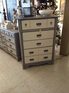 Just added a Shabby grey and white chest