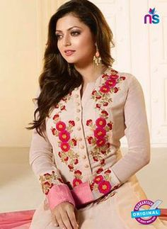 LT 91003 Beige and Pink Georgette Exclusive Function Wear Designer Gawn