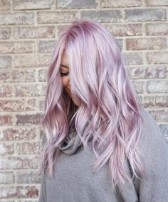 hair highlights ombre Lavender Hair With Gentle Highlights; Lavender Hair With Gentle Highlights; Adorable Silver Lavender Hair Trend in 2019 Silver Lavender Hair, Lavender Hair Colors, Bright Hair Colors, Colourful Hair, Bright Colored Hair, Short Lavender Hair, Trendy Hair Colors, Lavender Ideas, Pastel Colors