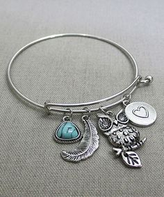 Silver Owl Charm Bracelet