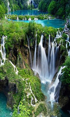 Plitvice Lakes National Park, Croatia : Most beautiful place in the world. Plitvice Lakes National Park, Croatia : Most beautiful place in the world. Beautiful Waterfalls, Beautiful Landscapes, Beautiful Places In The World, Wonderful Places, Amazing Places, Plitvice Lakes National Park, Croatia National Park, Vacation Spots, Vacation Games