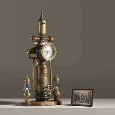 When film editor and Savannah College of Art and Design (SCAD) professor Burton J. Sears died in August he left behind a collection of mysterious. Lampe Steampunk, Steampunk Clock, Steampunk House, Steampunk Design, Steampunk Belt, Industrial Style Lamps, Industrial Clocks, French Industrial, Steampunk Costume