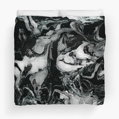 Black and white marble texture. by kakapostudio
