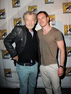 Another of Sir Ian McKellen and Michael Fassbender  #X-Men #Magneto
